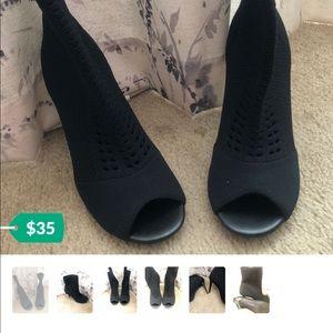 Womens open toe boots
